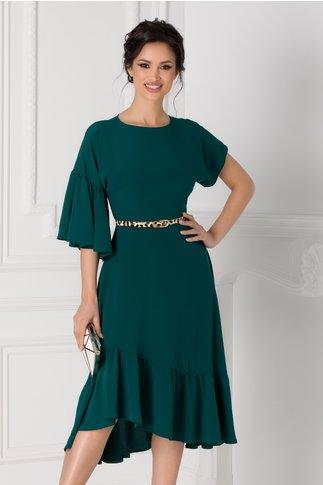Rochie Moze verde clos asimetrica