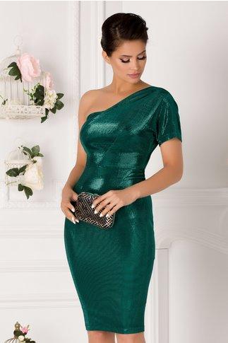 Rochie Moze verde conica pe un umar