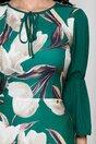 Rochie Moze verde cu flori bej