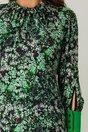 Rochie Moze verde cu imprimeuri florale