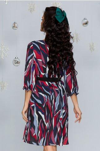 Rochie Naoki multicolora cu cordon in talie