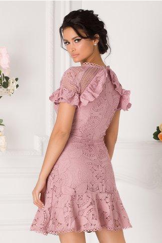 Rochie Nicol roz prafuit din dantela