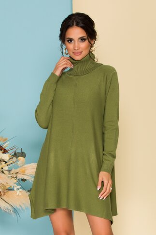 Rochie Nikky olive lejera din tricot