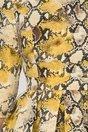 Rochie Olga galbena cu imprimeu piele de sarpe
