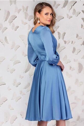 Rochie Pretty Girl bleu in clos cu cordon detasabil tip funda