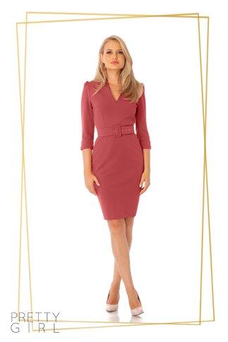 Rochie Pretty Girl roz coniac