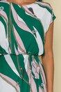 Rochie Raluca in nuante roz-verde cu imprimeu chain