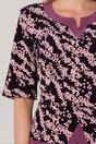 Rochie Rania lila cu imprimeu divers