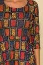 Rochie Rickky cu patratele colorate