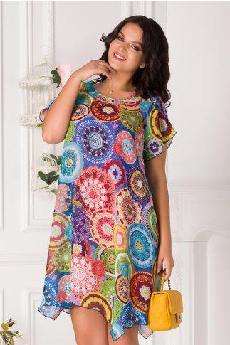 Rochie Romina cu cercuri colorate