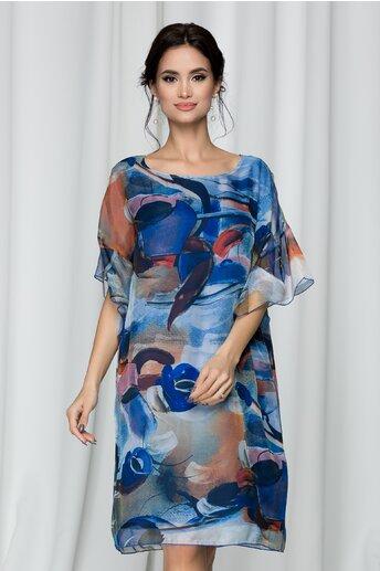Rochie Roxy vaporoasa cu imprimeu albastru