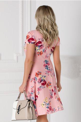 Rochie Veda roz cu imprimeu floral