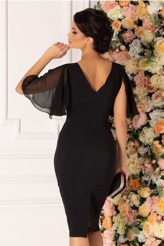 Rochie Sandra neagra cu accesoriu deosebit in talie