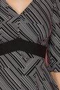 Rochie Sandra neagra cu imprimeuri geometrice