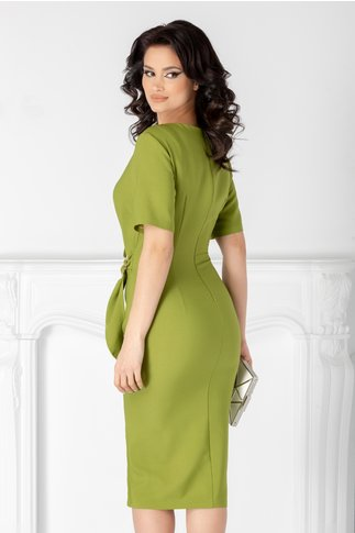 Rochie Sany verde deschis cu aspect petrecut