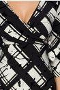 Rochie Sebra neagra cu imprimeuri geometrice si insertii catifelate