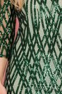 Rochie Sera verde cu paiete si volan la baza
