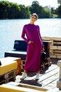Rochie Siena mov din tricot cu buzunare