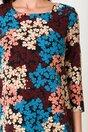 Rochie Sima lejera cu imprimeuri florale colorate