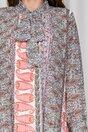 Rochie Simi plisata cu imprimeuri orange