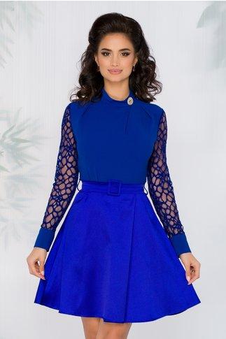 Rochie Sophia doua nuante de albastru