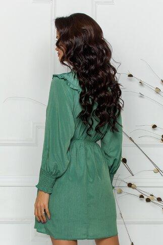 Rochie Sore verde vaporoasa de vara