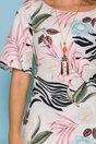 Rochie Syla ivoire cu buzunare si imprimeu floral