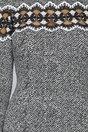 Rochie Tammy cu imprimeu alb-negru si insertii din broderie aplicate tull negru transparent