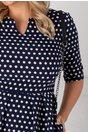Rochie Teddy bleumarin cu buline