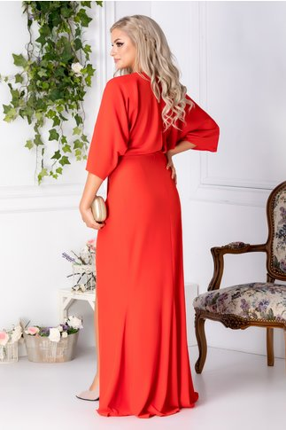 Rochie Tiffany lunga rosie de ocazie