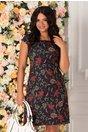 Rochie Timeea bleumarin cu imprimeu floral