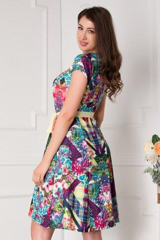 Rochie Timeea cu imprimeuri diverse multicolore