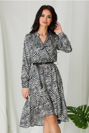 Rochie Tina cu imprimeu zebra