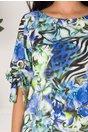 Rochie Tonia cu imprimeu exotic albastru