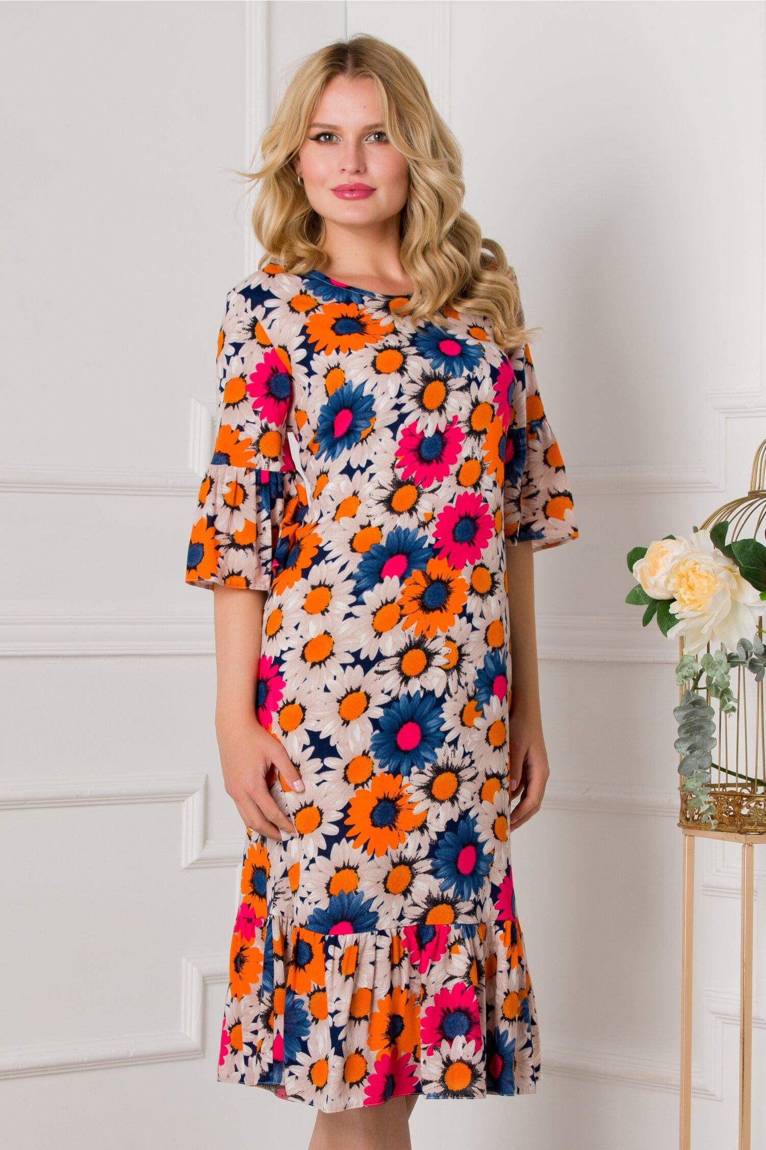 Rochie Velma cu imprimeu floral maxi