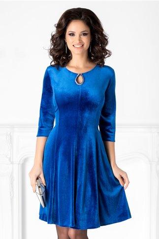 Rochie Velvet albastru roial din catifea