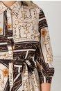 Rochie Venus casual cu imprimeu abstract