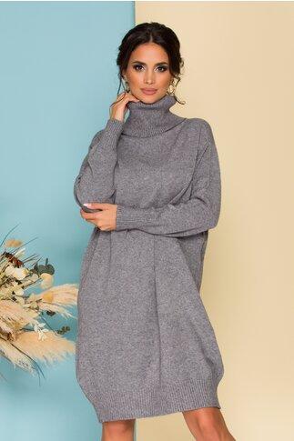 Rochie Verra gri din tricot