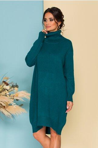 Rochie Verra verde petrol din tricot