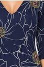 Rochie Yanisia bleumarin cu imprimeu floral