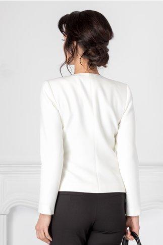 Sacou Ginette alb elegant