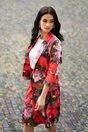 Sacou LaDonna by DyFashion cambrat cu imprimeu floral