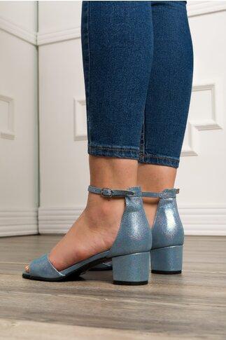 Sandale bleu cu particule stralucitoare