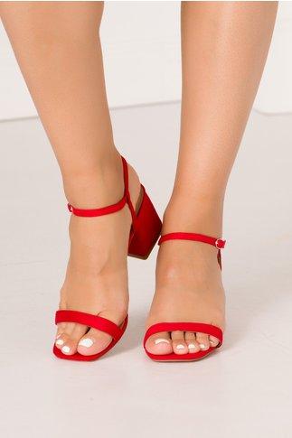 Sandale rosii cu barete fine