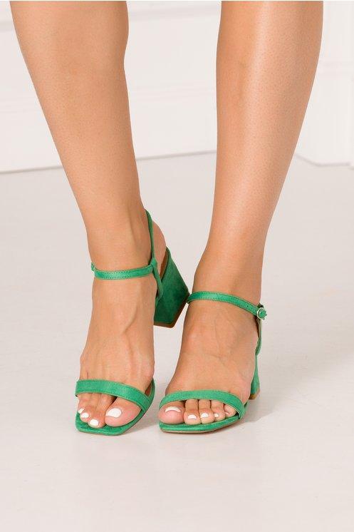 Sandale verzi cu barete fine