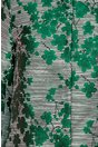 Trench Ivonne cu imprimeu floral verde