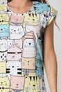 Tricou Kitty cu imprimeu colorat