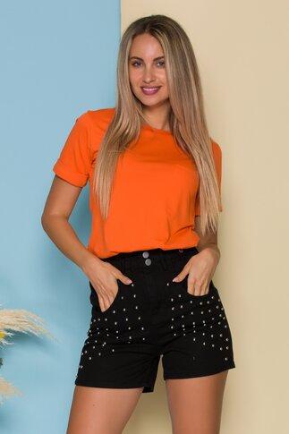 Tricou LaDonna by Catalin Botezatu orange cu decupaj in spate