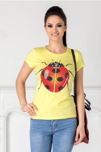 Tricou Ladybug galben