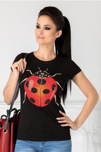 Tricou Ladybug negru